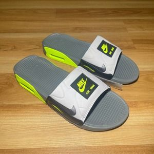 Nike Air Max 90 Slide Grey Volt CT5241-001, 9